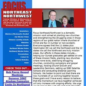 Focus NE/NW USA